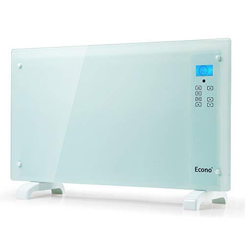 Econo Glass Panel Heater Electric Portable Free Standing Wall Mount Weekly Timer