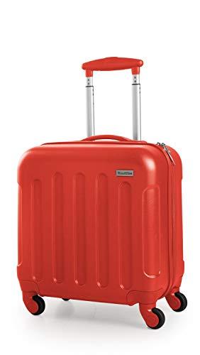 SUITLINE Suitline S3 - Hartschalen - Kabinengepäck, Handgepäck Trolley, Pilotentrolley ABS, 4 Rollen, Petrolblau