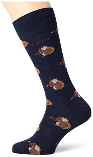 Hackett London Mens Squirrel Socks, 595NAVY, ML