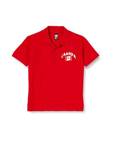 Supportershop Kinder Poloshirt Rugby Kanada XL rot