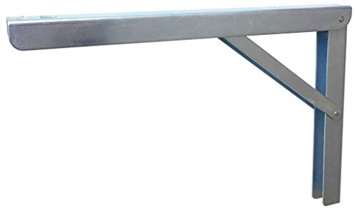 Sunload Klappkonsole aus Stahl verzinkt, klappbar und verstellbar (400mm - verzinkt)
