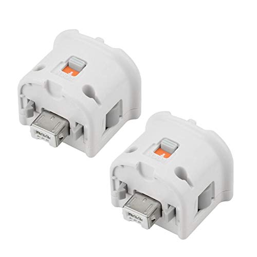ToThere Wii Motion Plus Accelerator Adapter Sensor For Wii Wii U Remote Controller 2 Packs(white)