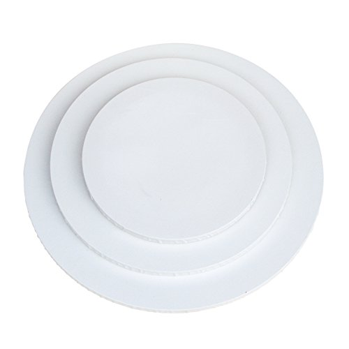 runde Leinwand Ø 30cm, 4er-Set, 380gr/m² Qualitäts-Keilrahmen rund, Malen