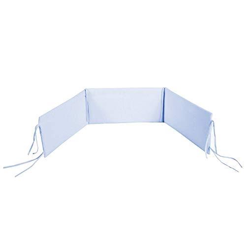 Protector de cabeza para cuna, 100% algodón, color azul