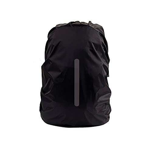 HEIYANQUAN LXB - Mochila de senderismo, reflectante, impermeable, 15 – 70 L, para senderismo, funda protectora, para hombres y mujeres (color: negro, tamaño: grande)