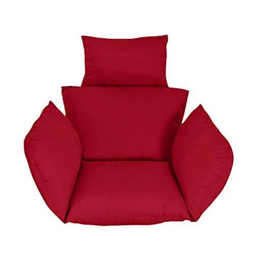 Mirui Hammock Chair Cushion Pads Rocking Swing Garden Outdoor Soft Basket Seat Cushion Bedroom Hanging Chair Back Pillow (No Hammock) (Color : Claret, 规格 : One size)