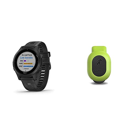 Garmin Forerunner 945, Premium GPS Running/Triathlon Smartwatch with Music, Black Bundle with Garmin 010-12520-00 Running Dynamics Pod