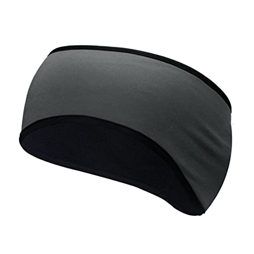 ZYYXB Diadema multifuncional para el invierno, banda elástica para el deporte, banda elástica para yoga, para exteriores, protección de oídos, color gris