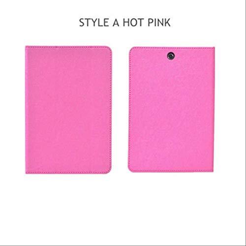 XXIUYHU Flip Case Für Hp Pro Tablet 608 G1 Magnetabdeckung Ständer Halter Pu Ledertasche Für Hp Pro Tablet 608 G1 Z8500 7,9-Zoll-Tablet-TascheStyle A Hot Pink