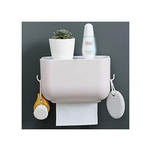 lejia Schweberegale Kreative Toilettenpapier Box Toilettenpapiertuch-Toilettenpapier-Rack-Haushalt Nicht durchlöchertes WC wasserfestes Papier Rollenpapier Rohr Standregale (Color : Beige)