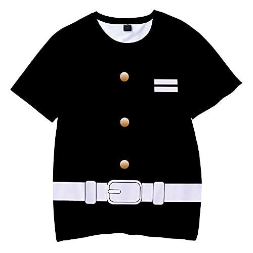 T-Shirts Regalos para Camiseta Padre e Hijo,Niki Ghost Animación Comestible Imprimir 3D Camiseta de Manga Corta a Todo color-ATDG0057_XS