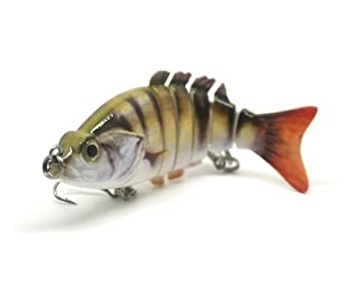 PERCH Swimbait Multi Jointed Fishing Lure realistic perch jack pattern and swim action for pike, perch, zander and bass 83mm 12 grams from FISHIN ADDICT