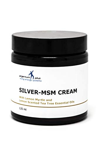 Silber-MSM Crème mit Zitronenmyrte und Zitronen Teebaum essentiellen Ölen - 120 ml