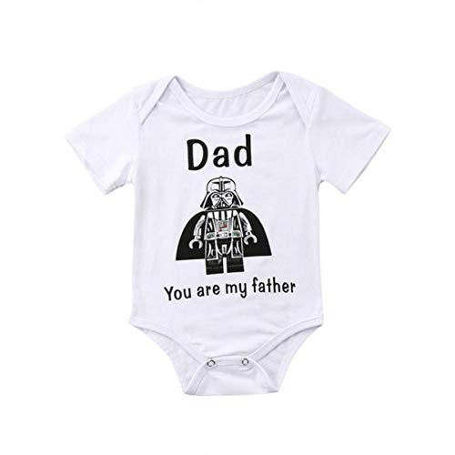 Nouveau-né Baby Star Wars Mode Casual O-Cou Salopette Tenue Justaucorps vêtements 0-24M,12M