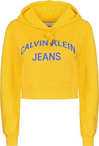 Calvin Klein Jeans Damen Sweatshirt Cropped gelb (31) S