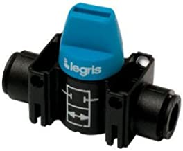 Legris 7910 60 00 Composite Mini Ball Valve, 2-Way, 3/8