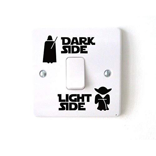 BYFRI 1ponga Interruptor De Pegatinas Decal, Interruptor Lado Oscuro De La Luz Pilota del Vinilo De La Etiqueta Engomada De Habitaciones Infantiles