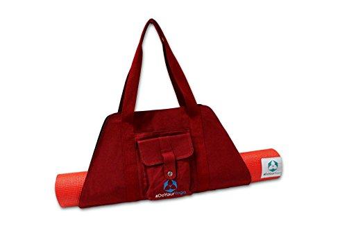 #DoYourYoga Yogatasche »Sumantra« / Sling Yogabag für extra große Yogamatten/Pilatesmatten bis 100 cm Breite/Bordeaux-rot