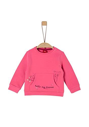 s.Oliver Baby-Mädchen 65.909.41.2762 Sweatshirt, Rosa (Pink 4543), (Herstellergröße: 80)