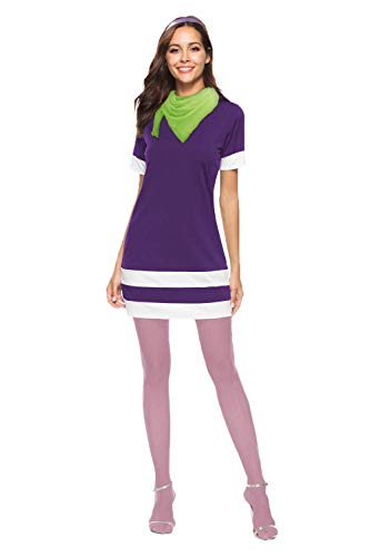 HOLYSNOW Halloween Cosplay Daphne Costume Adult Accessories 3pcs for Women