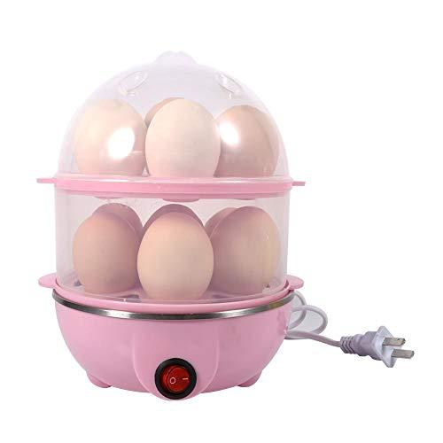 Elektrischer Eierkocher, multifunktionaler Doppelschicht-Eierkocher & Wilderer, für 14 Eier, für hartgekochte Eier, pochierte Eier, Omeletts, Abschaltautomatik (2 Farben)(2#)
