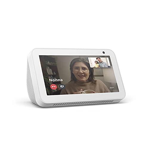 Echo Show 5 (1ª generazione, modello 2019)   Schermo intelligente con Alexa   Resta sempre in contatto con l'aiuto di Alexa   Bianco