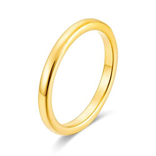 指輪 メンズ アクセサリー タングステン リング カップルの贈り物 ピンキーリング ゴールド