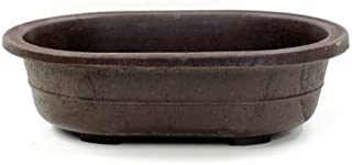 Oval Mica Bonsai Training Pot - Superior to Plastic - Won't Break from Freezing or Dropping Like Clay, Earthenware or Ceramic (1, Exterior Dimensions: 11 3/8 x 8 1/8 x 3 1/4)
