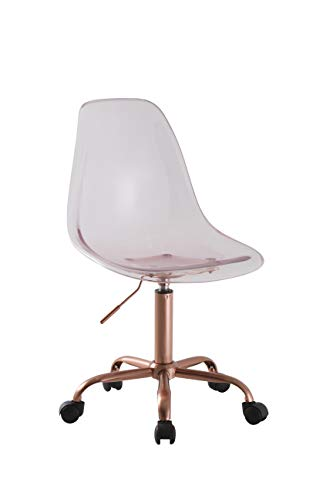 Mainstay Acrylic Rolling Desk/Task Chair (Lantana)