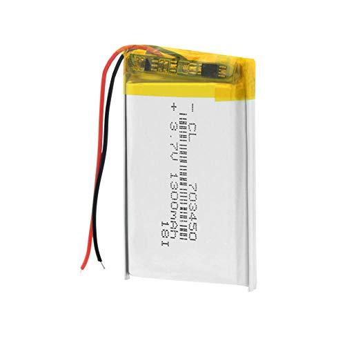 Dilezhiwanjuwu 3.7V 1300mAh 703450 Batería de Litio 703450 Lipo Li Polímero Baterías GPS Radio inalámbrica Cámara Teléfono Celular de Repuesto