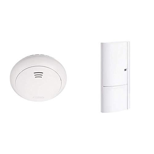 ABUS Funk-Rauchmelder Smartvest Erweiterung der Funk-Alarmanlage | inkl. Hitze Detektion | weiß & Öffnungsmelder Smartvest für Funk-Alarmanlage | verwendbar an Türen und Fenster | Testsieger | weiß