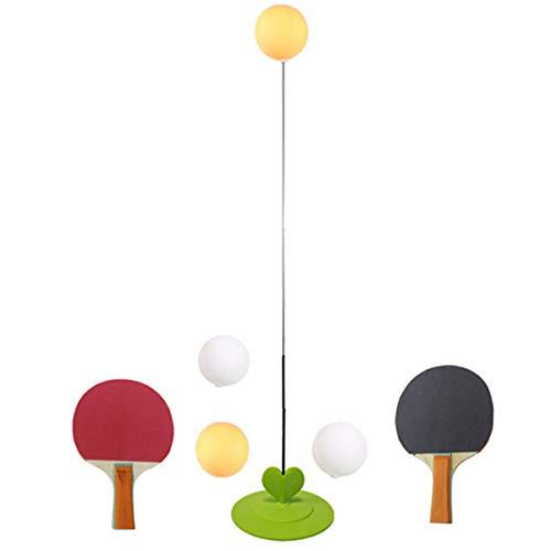 Qinsir Equipo De Tenis De Mesa,Máquina De Entrenamiento Individual De Ping-Pong,Juego De Tenis De Mesa Interactivo para Padres, para Niños Fácil Usar con Varilla Elástica Eje Blando Elástico