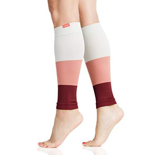 VIM & VIGR 15-20 mmHg Mangas de compresión graduadas para piernas para mujeres y hombres, 1, Melocotón y ruibarbo