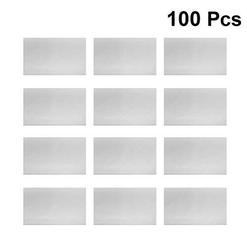 Yardwe 100 Stücke Pflanzbar Seed Paper Pflanzbar Recyceltes Notizpapier Professionelle Keimende Papier für Garten Farm 52 5X21 cm (Hellgrau)