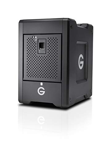 G-Technology 16TB G-Speed Shuttle SSD with Thunderbolt 3 with ev Series Bay Adapter - Transportable 8-Bay Raid Storage Solution - 0G10193-1