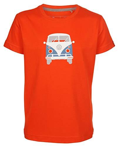 Elkline Kinder T-Shirt Teeins mit VW Bulli Print, Farbe:cherrytomato, Größe:140/146