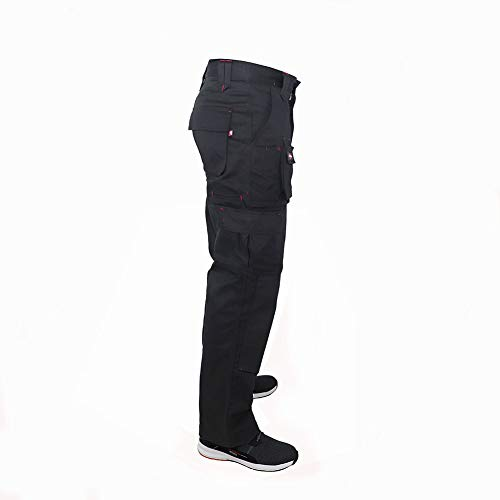 Lee Cooper Men's Cargo Trouser – schwarz -30W/29S - 7