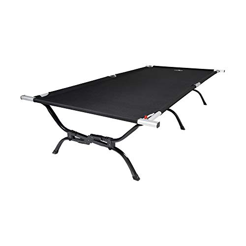 TETON Sports Outfitter XXL Camping Cot with Patented Pivot Arm; Folding Cot Great for Car Camping, 85' x 40' x 19', Black