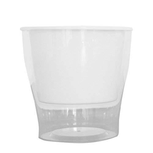 La Taille à Fleurs d'arrosage Automatique d'arrosage en Plastique PP Bureau Home Decor Pots de Fleurs vases en Plastique Transparents - Blanc,L