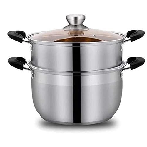 HHTD Pote De Leche Vapor De Vapor De Acero Inoxidable Grueso Pote De Sopa Doble Vaporización De Gas Cocinura De Inducción Cocina De Doble Uso De Cocina De Cocina