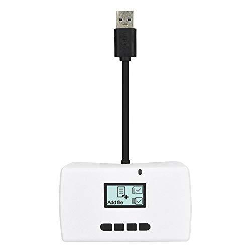 Topiky Smart Card Reader, USB3.0 Hub-Adapter Hochgeschwindigkeits-Übertragungsunterstützung Datenwiederherstellung/Backup/Kopierfunktion für die Speicherkarte der DSLR-Kamera(Weiß)
