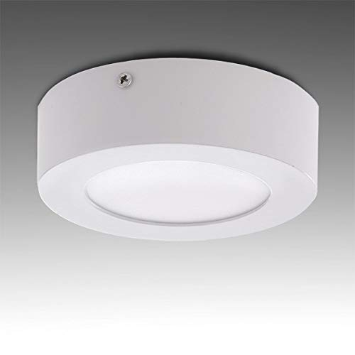 Greenice | Plafón LED Circular Superficie Ø120Mm 6W 470Lm 30.000H | Blanco Frío