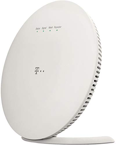 Telekom Speed Home WiFi für Ihr starkes & stabiles Heimnetzwerk I WLAN Verstärker mit Mesh Technologie für optimale Internet-Abdeckung, 1.733 Mbit/s I Plug & Play per WPS, 2 LAN-Anschlüsse