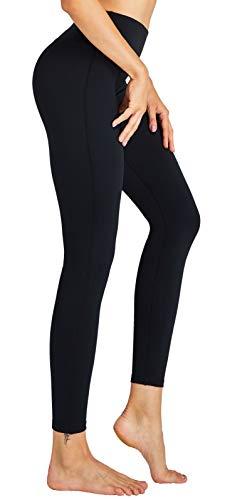 COOLOMG Damen Yoga Lang Hose Kompression Leggings Sport Trainingshose S