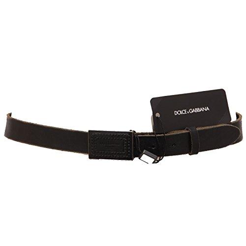 90791 cintura DOLCE&GABBANA D&G PELLE accessori uomo belts men nero [90]