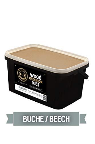 Grillgold Räuchermehl Wood Smoking Dust. Zum räuchen und kalträuchern von Fisch, Fleisch und Gemüse auch für BBQ und Grill geeignet. In Wiederverschliessbaren-Eimer befüllt mit 5,5 Liter Buche