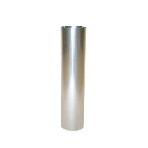 Kamino - Flam – Tubo para chimenea, Tubos para estufa de leña, Conducto de humos, Tubo vitrificado – acero resistente a altas temperaturas – plata, Ø 120 mm/longitud 500 mm