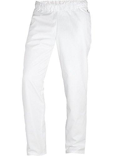 BP 1645-400-21-XLn Unisex-Hose, mit Gummizug in der Taille, 215,00 g/m² Stoffmischung, weiß, XLn