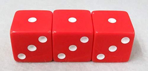 六面サイコロ (赤) 3個セット