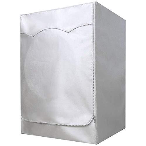 Kaimeilai Waschmaschine Deckel, Frontlader Waschmaschine Abdeckung Staubdicht Deckel mit Reißverschluss wasserdicht UV-Beständig Abdeckung für Waschmaschinen (Silber, 85 × 60 × 57 cm)